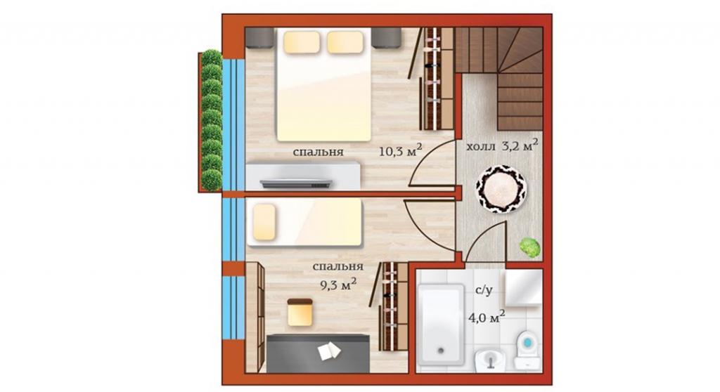 План 2ого этажа