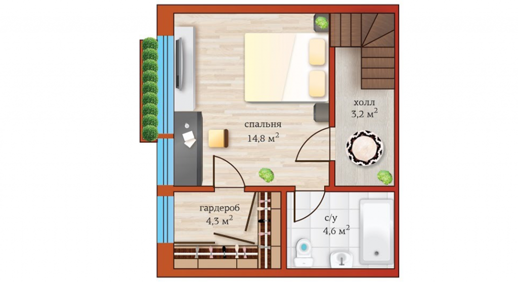 Альтернативный план 2ого этажа