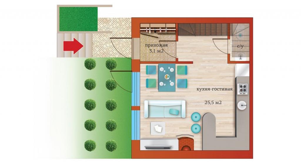План 1ого этажа